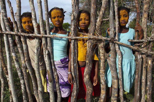 , 'Adolescent Malagasy girls with beauty mud on their faces, Madagascar,' 2010, Anastasia Photo