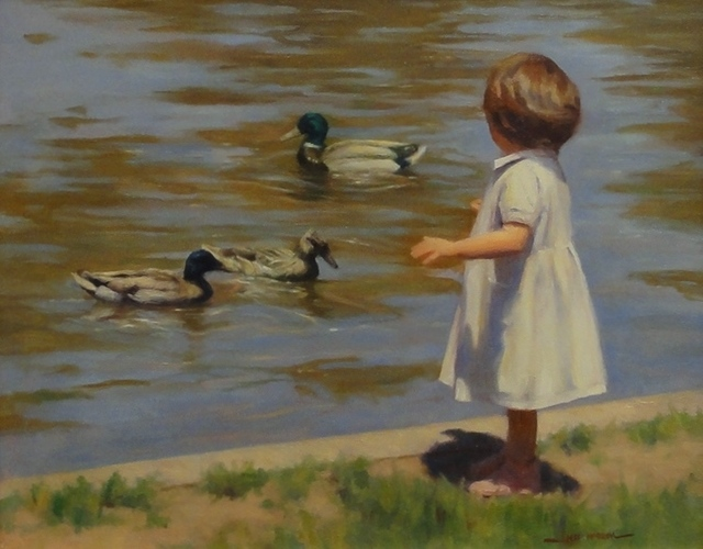 , 'Duck Encounter,' , Eisele Fine Art