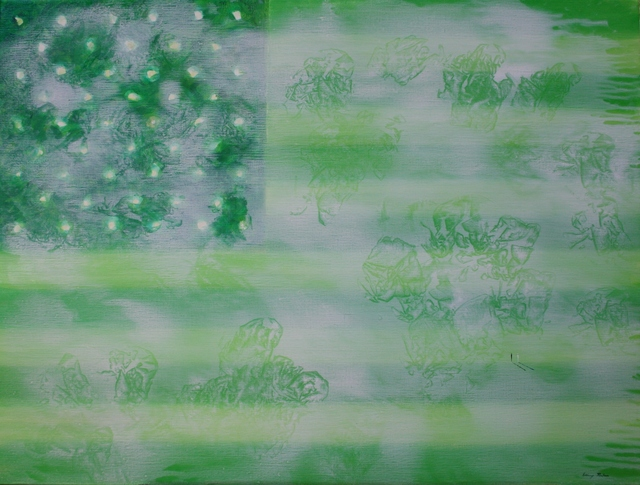 , 'Green Flag,' 2016, Ashok Jain Gallery