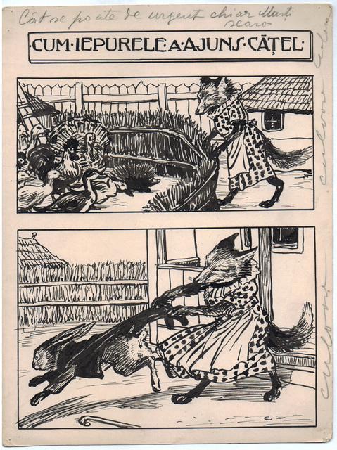 , 'Cum iepurele a ajuns catel,' 1922-1927, Nasui Collection & Gallery