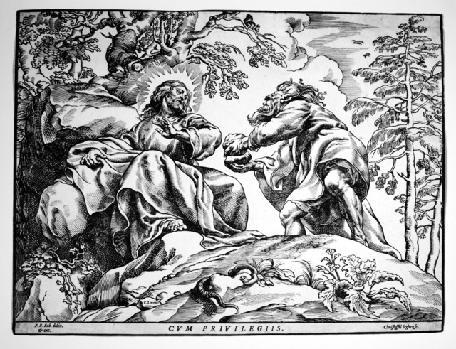 Christoffel Jegher, 'The Temptation of Christ by the Devil (2nd State)', 1633-1635, R. S. Johnson Fine Art