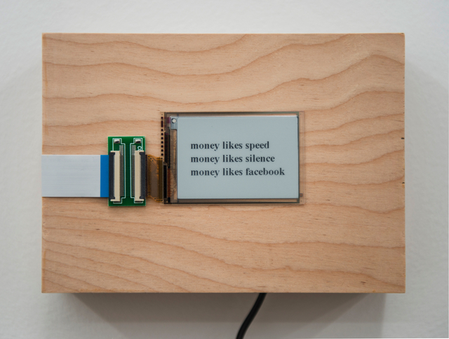 , 'money likes...,' 2015/2016, Postmasters Gallery
