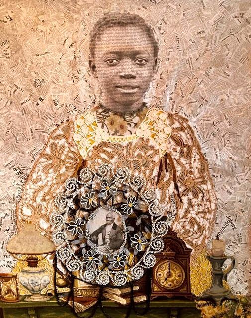Marion Boehm, 'Great Grandpa ', 2017, Drawing, Collage or other Work on Paper, Mixed media collage on canvas, Out of Africa Gallery