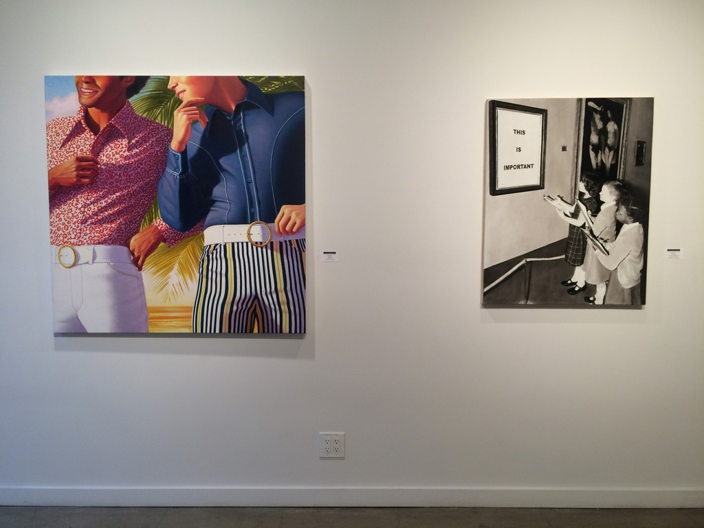 "James Rieck ""Flared Bottoms"" (left), David Lyle ""The Masterpiece"" (right)"
