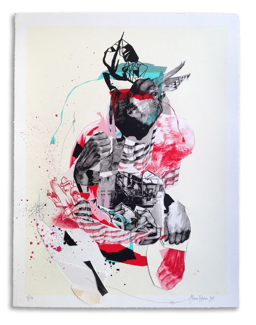 , ''Buckwild' Hand Embellished # 16,' 2015, StolenSpace Gallery