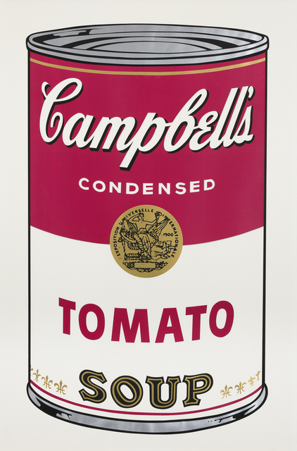 , 'Tomato Soup, from: Campbell's Soup I,' 1968, CFHILL