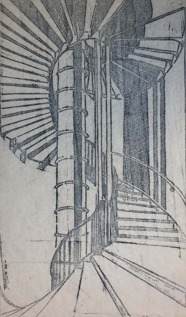 Cyril Power, 'Tube Staircase', 1929, Print, Linoleum Cut on paper, Roger Genser - The Prints and the Pauper