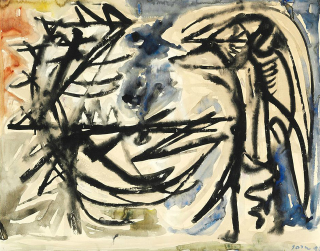 Asger Jorn, 'Two bird figures', 1949, HUNDERTMARKartFAIR