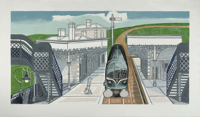 Edward Bawden, 'Braintree Station ', ca. 1961, The Fine Art Society