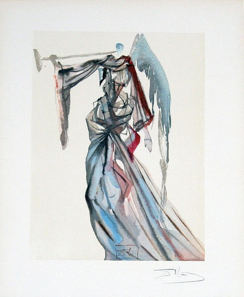 Salvador Dalí, 'Paradise Canto 10: The Angel of the Sun from The Divine Comedy', 1960, Print, Woodblock on paper, New River Fine Art