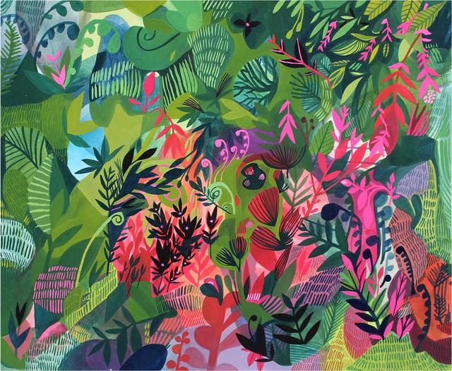 Ashley Amery, 'Undergrowth ', 2016, Painting, Gouache on paper, Rebecca Hossack Art Gallery