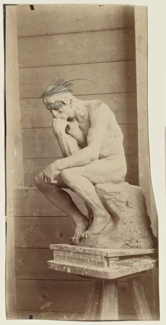 , 'Le Penseur en terre, retouche à la mine de plomb (The Thinker in clay, retouched in pencil),' July 1882, Musée Rodin