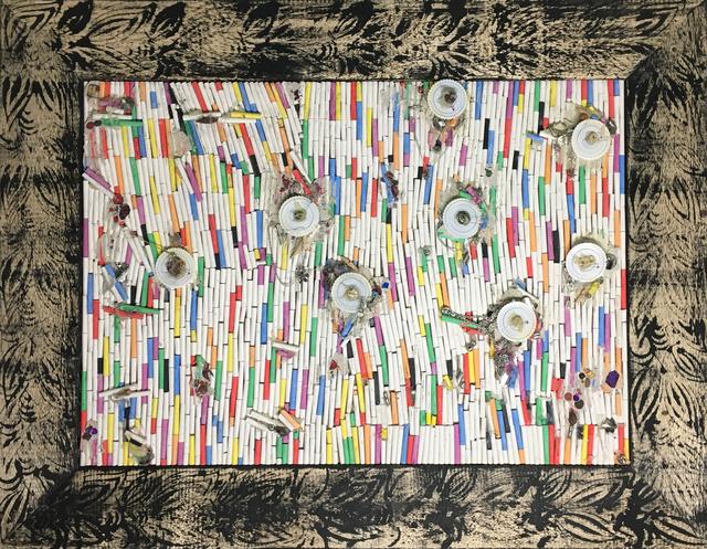 Pascale Marthine Tayou, 'Fresque de craies C(2)', 2015, Richard Taittinger Gallery