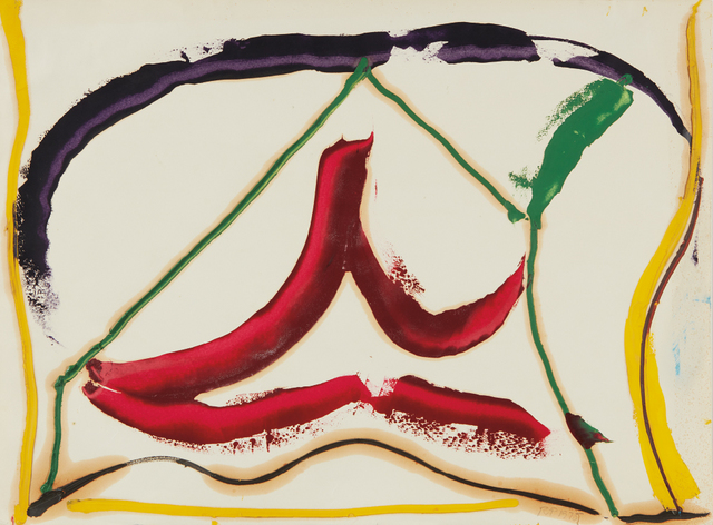 Ray Parker, 'Untitled', 1975, Print, Oil painting on paper, Phillips