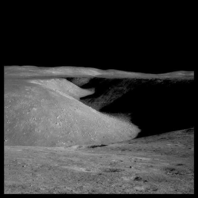 , '072 Hadley Rille: 80 Miles Long, 1 Mile Wide  and 1000 Feet Deep; Photographed by James Irwin, Apollo 15, July 26-August 7, 1971,' 1999, Danziger Gallery