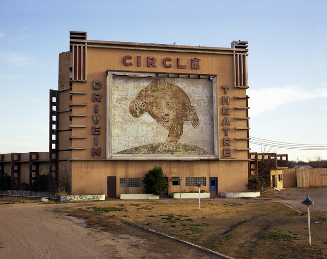 , 'Circle Drive-in theater, Waco, Texas; January 7, 1981,' , photo-eye Gallery