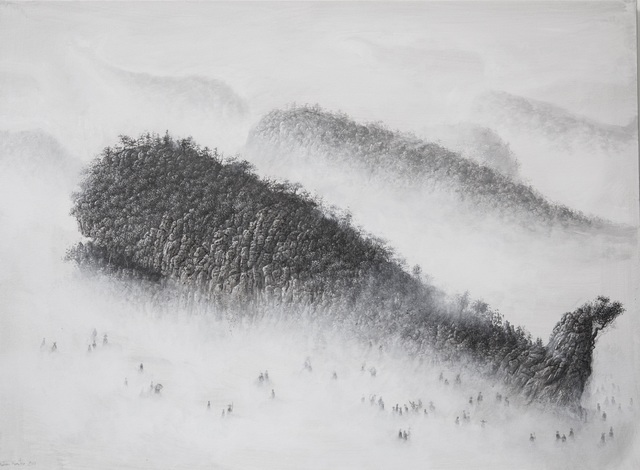 , 'Odd Mountain on the Beach,' 2017, Galerie Dumonteil