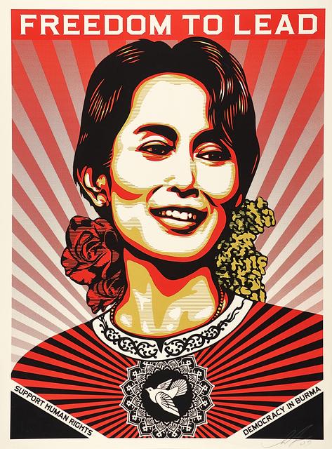 Shepard Fairey (OBEY), 'Aung San Suu Kyi', 2009, Rago/Wright