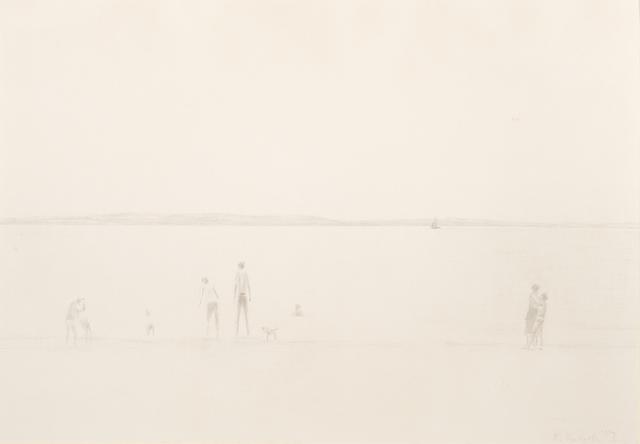 Richard Eurich, 'Figures and dog on a beach', 1987, Waterhouse & Dodd