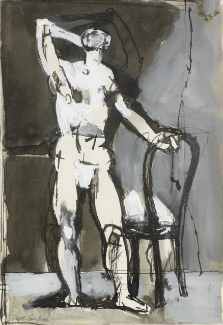 , 'Man with a Chair,' 1952-1953, Osborne Samuel