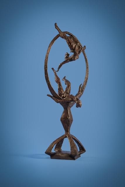 Chaim Gross, 'Acrobats Through the Ring', 1964, Sculpture, Bronze, Forum Gallery