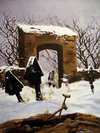 , 'Cemetry In Snow,' 2008, Aki Gallery