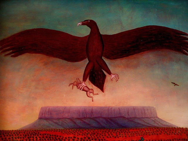 Bob Marchant, 'Wedgetail eagle over Mt Connor ', 1992, Anthony Horth Gallery