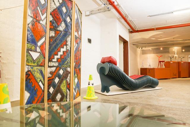 , 'Paravent à trois ventaux & Chaise Cascade,' 2015-2016, Museum of African Design (MOAD)