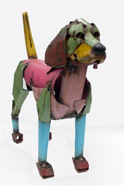 , 'Dog Pink and Blue,' 2014, Rebecca Hossack Art Gallery