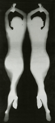 ", '""Mirror image, body photogram (nudpgram)"", from the series 'Körperbilder',' 1967, Kicken Berlin"