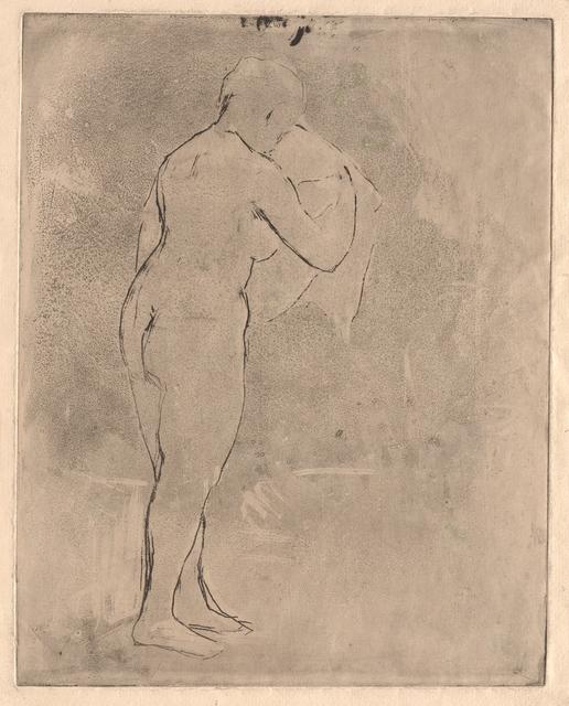 Mary Cassatt, 'Standing Nude with a Towel', circa. 1879, RISD Museum