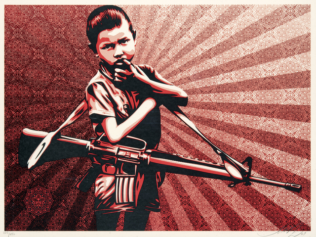 Shepard Fairey, 'Duality Of Humanity 5', 2009, Tate Ward Auctions