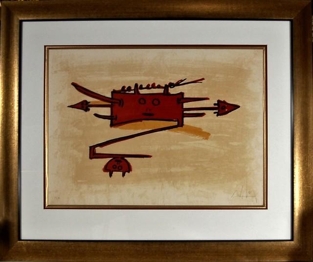 """Wifredo Lam, '""""El Ultimo Viaje Del Buque Fantasma""""', 1976, Joseph Grossman Fine Art Gallery"""