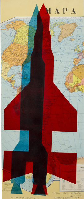 , 'Map (Red and Blue Rocket),' 1967, The Mayor Gallery