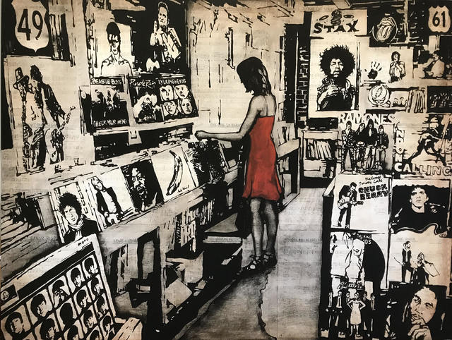 , 'The Record Shop,' , J GO Gallery