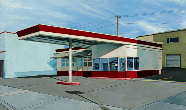 , 'Red and White Gas Station,' 2017, Russo Lee Gallery