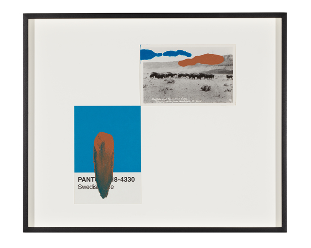 Tacita Dean, 'Pantone Pair (Swedish Blue)', 2020, Painting, Found Pantone card paired with postcard from the artist's collection, monoprinted and framed to the artist's specifications, Gemini G.E.L. at Joni Moisant Weyl