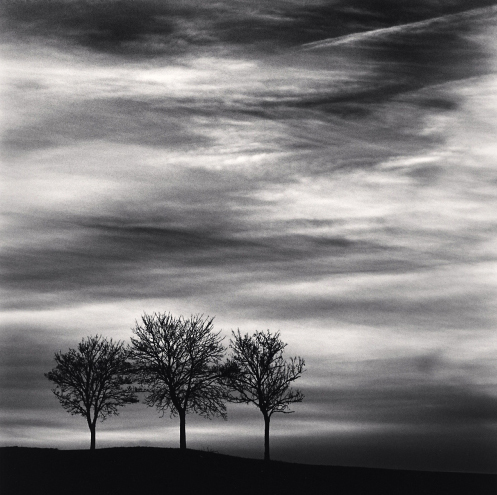 Michael Kenna, 'Three Trees at Dusk, Fain Les Moutiners, Bourgogne, France', 2013, Weston Gallery