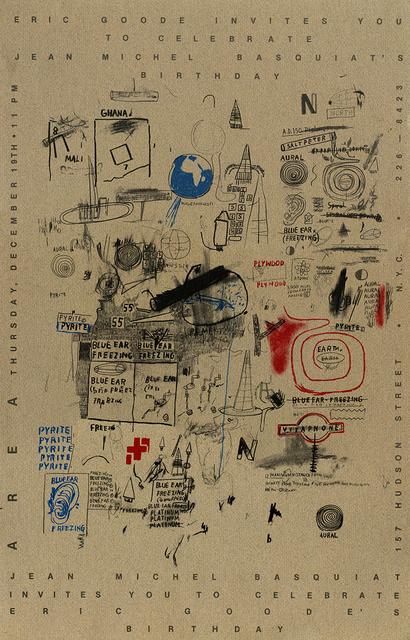 Jean-Michel Basquiat, 'Basquiat Area nightclub New York 1984', 1984, Lot 180