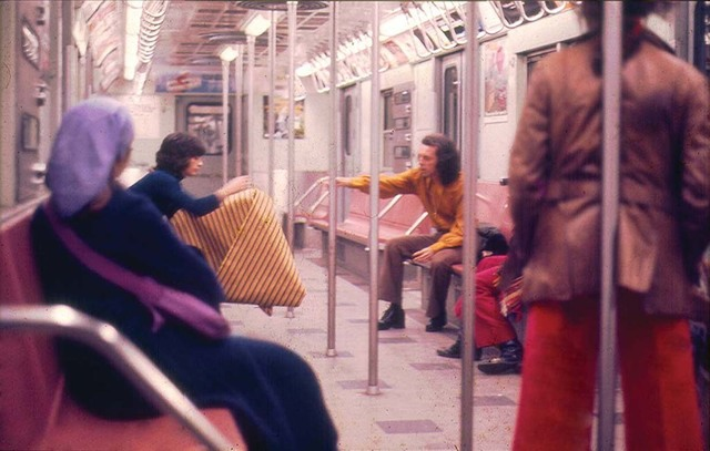 , 'Parangolé Cape 30 in the New York City Subway,' 1972, Whitney Museum of American Art