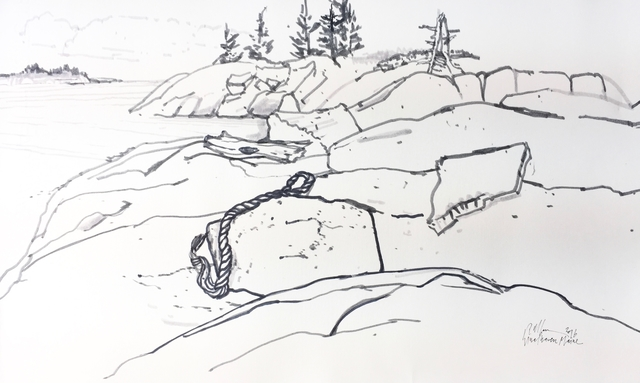 , 'Sailor's Rope and Boulders (after Marsden  Hartley) on Vinalhaven Island, Maine,' 2016-2017, Resource Art