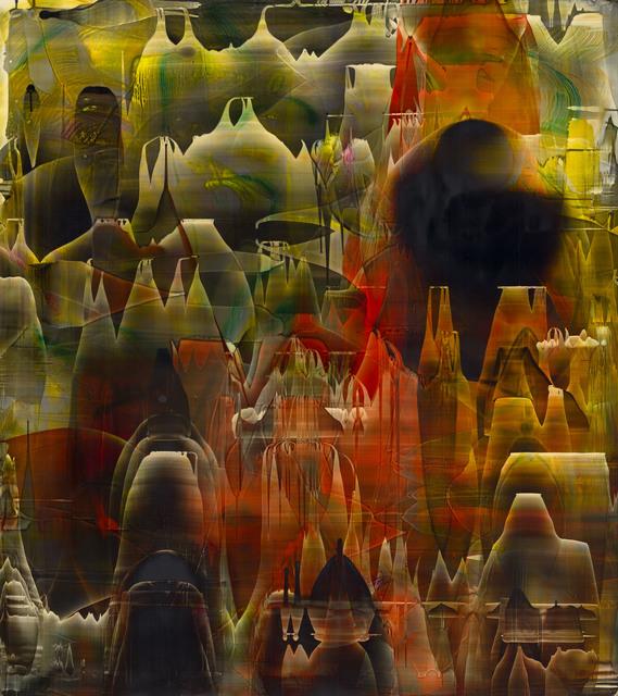 , 'Sillons d'écume tracés d'un périscope 02,' 2016, Galerie D'Este