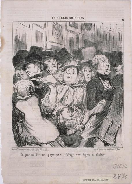 Honoré Daumier, 'Le Public du Salon: Un jour où l'on ne paye pas…', 1852, Phillips Collection