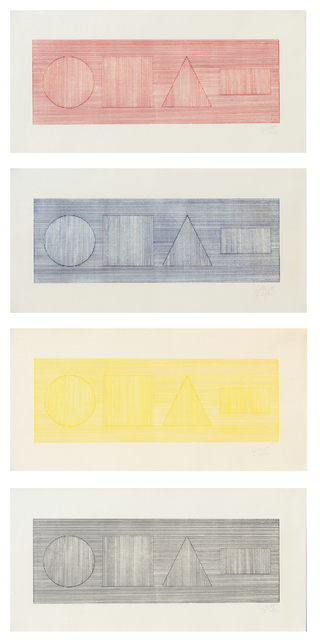 , 'Four-Part Combination of Six Geometric Figures in Four Colors,' 1980, Sims Reed Gallery
