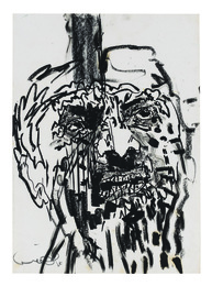 Kahane, 1988,  Charcoal and oil stick on paper, Photo: Elad Sarig