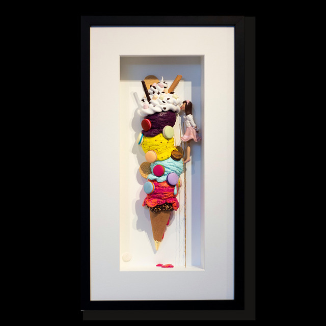 Kunst met een R, 'We love ice cream 7 ', 2020, Installation, 3D Shadow Box, Eden Fine Art