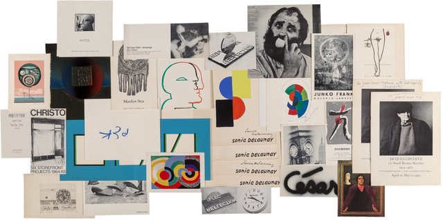 Sonia Delaunay, 'and Others Group of Sonia Delaunay Ephemera, Including Articles from Junko Frank, Yaacov Agam, Horst Antes, and Other Artists', Heritage Auctions