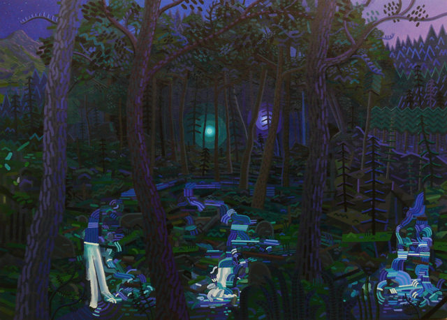, 'Two Lights in the Woods,' 2015, G. Gibson Gallery