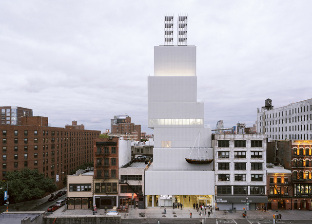 ", 'Installation view, ""Chris Burden: Extreme Measures"" at New Museum, New York, 2013,' , New Museum"