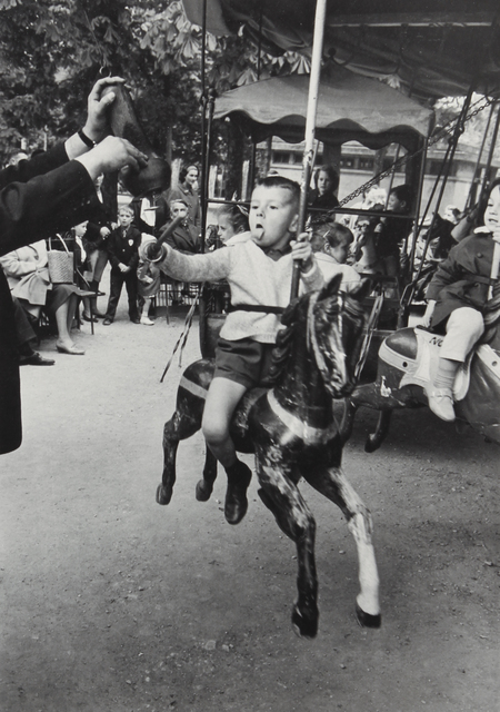 , 'Boy with Tongue Out Spearing Brass Ring, Luxembourg Garden, Paris, 1963,' ca. 1964, Huxley-Parlour